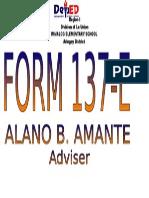 Cover Form 138 137 e