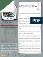 Kiran Bedi - Inspirational Speech for kids  – Mocomi.com