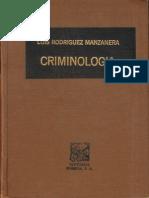 138.- Criminología - Rodríguez Manzanera, Luis