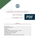 Lausannecollegiateschool Giftpolicies
