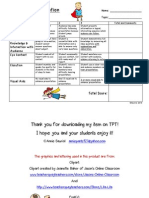 Rubric for Presentations - Group