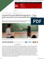 Journal d'un prof débutant (Épisode 6)