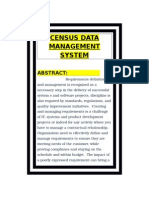 Census Data Management System