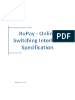 RuPay - Online Switching Interface Specification