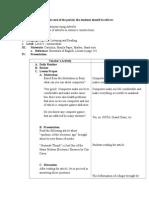 Lesson Plan for English IV