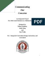 communicatingourconcernsanintegratedproject