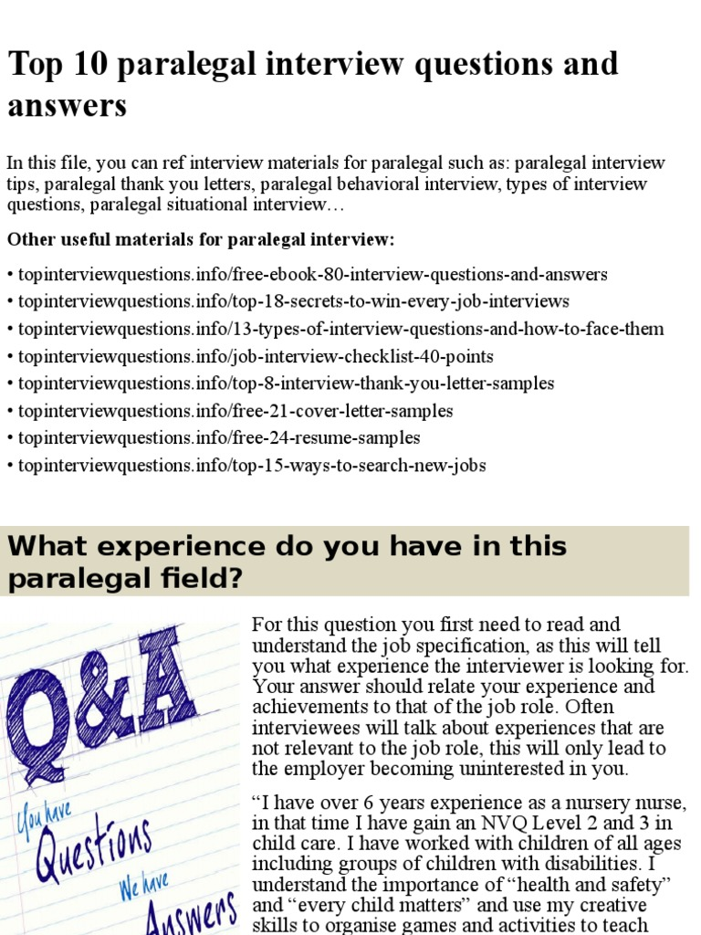 top 10 paralegal interview questions and answerspptx interview job interview - How To Answer Job Interview Questions