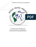 Declaración de Montreal. Documento de Acompañamiento