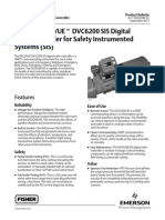 Fisher FIELDVUE DVC6200 SIS Digital Valve Controller for Safety Instrumented Systems (SIS)