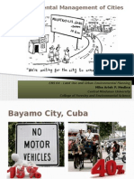Environmental Management of Cities