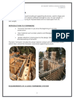 Formwork in building construction