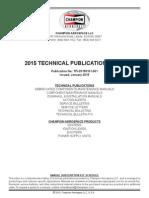 2015 CHAMPION AEROSPACE Technical Publications Index