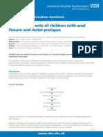 Analfissurerectalprolapse-Patientinformation