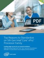 Top Reasons to Standardize on 5th Gen Intel® CoreTM vProTM Processor Family