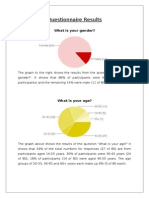 questionnaire results and graphs