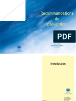 Recommandations de Prevention