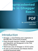 Unprecedented Floods in Ghaggar Basin