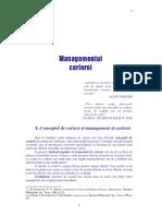 Suport Curs - Managementul Carierei 1