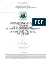 Accomplishment Report Yes-o Ndcmc 2013