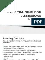 Btec Training for Assessors