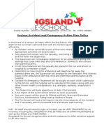 Serious Accident Policy and Emergency Action Plan