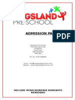 Welcome and Admission