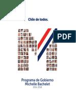 Programa Michelle Bachelet 2015