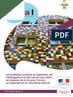 Les politiques sociales du logement, de l'hébergement et de l'accès aux droits