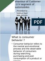 Buying Behaviour of Customer in S