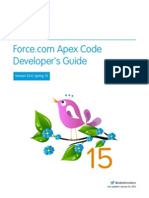 Salesforce Apex Language ref | Salesforce Com | Namespace