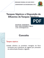 Dimensionamento de Tanque Septicos n