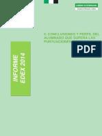 EDEX 2014 - Conclusiones y Perfil Del Alumnado Que Supera Las Puntuaciones Medias