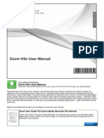 Zoom h4n User Manual