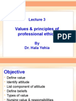 Values & Principles of Ethics