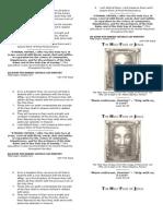 Holy Face of Jesus Pamphlet History