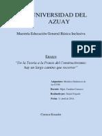 Ensayo de Teoría a Praxis FAJARDO D