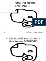 Tutorial for Using EVERNOTE
