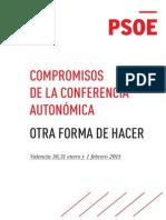 Conclusiones de la Conferencia Autonómica del PSOE (PDF)