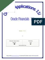 Oracle Applications - Financials 11i - V3.1.1