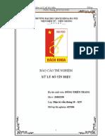 BÁO CÁO THÍ NGHIỆM  XỬ LÝ SỐ TÍN HIỆU bách khoa hà nội bkhn