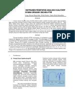 Jurnal Analisis Instrumen Penetapan Analisis Kualitatif Senyawa Organik Secara Ftir