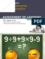 LET Review Assessment of Learning