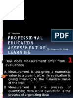 LET Review Assessment of Learning Test Items