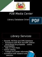 pob library orientation-7 2014