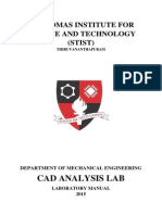 CAD ANALYSIS LAB MANUAL 2015 S6 Mechanical
