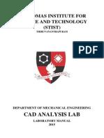 CAD ANALYSIS LAB MANUAL 2015 S6 Mechanical