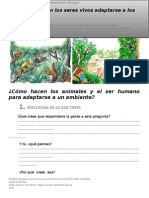 Qu+® tanto  pueden los seres vivos adaptarse a los ecosistemas