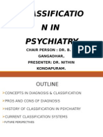 classificatin in psychiatry