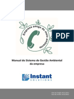 Manual Do Sistema de Gestão Ambiental Da Instant Solutions