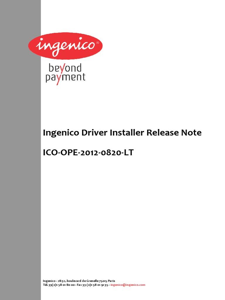 Ingenico   Device Driver   Installation (Computer Programs)